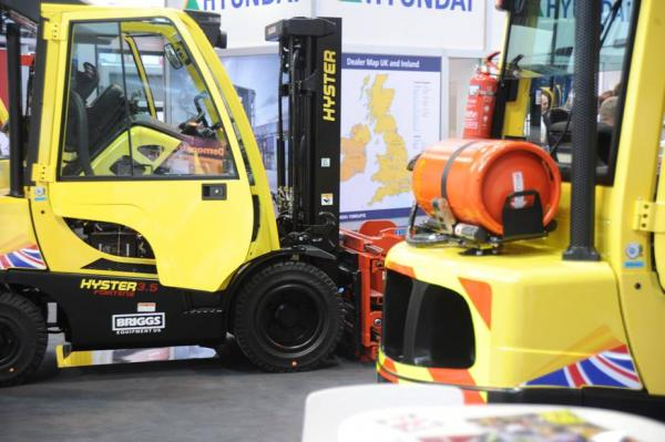 news flash... fork trucks, girl power and blue carpets at the NEC... IoC at IMHX 2016