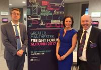 Greater Manchester freight discussions between TfGM and the IoC – Richard Banks, head of freight for TfGM Helen Smith and IoC Chair Carl Lomas