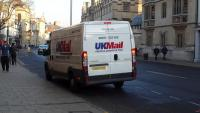 Peter Kane hands over at UK Mail