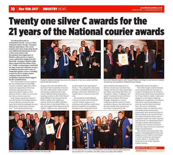 NCA 2017 gets full-page spread in Warehouse News