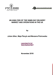 Same day delivery market and operations in the UK final version