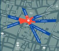 Only pedal cycles and buses at Bank Junction from May 22 in safety experiment