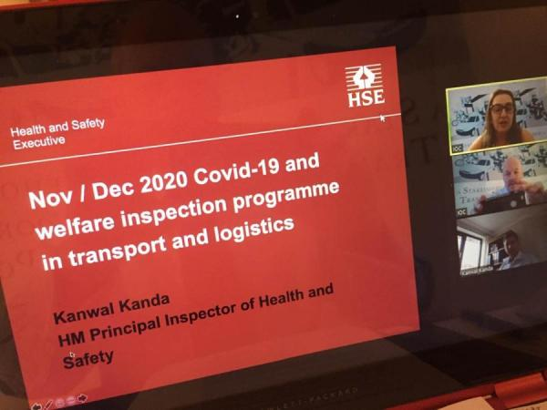 HSE Covid-19 welfare inspection programme in transport and logistics - IOC round table