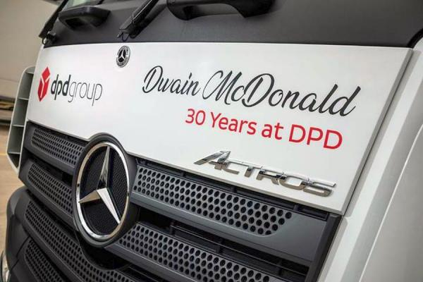 Long-service livery on new DPD Mercedes Actros fleet expansion