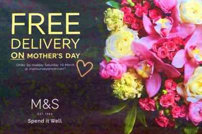 M&S Order Saturday by ten for Sunday delivery