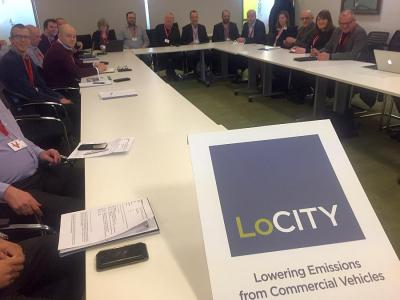 Over 30 thousand vans and two electric-only fleets at table for Monday TfL LoCITY van group on Feb 4th