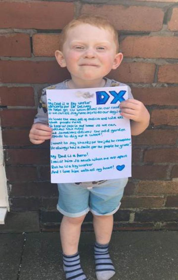 DX – Tom – 4-year-old's poem to a keyworker Dad