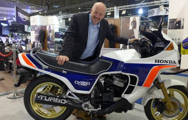 IOC Chairman goes turbo for Honda CX courier bike