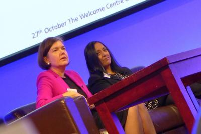 SFA Deputy Director Una Bennett and Senior Relationship Manager Bhavena Patel