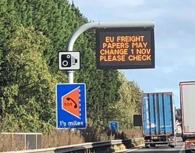 BREXIT on the motorway matrix boards as DfT launch good news for roads on last day of September