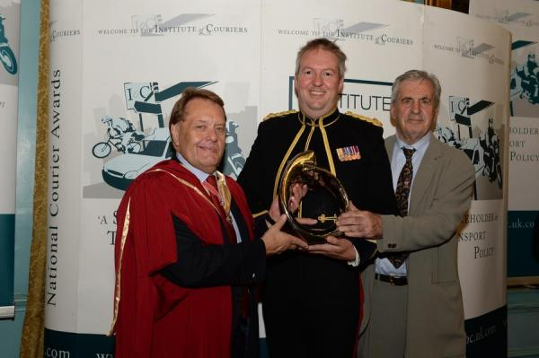 BFPO Northolt receives the award for the Defence Courier Service