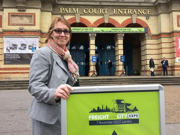 Freight in the City Ally Pally trade show and keynote LoCity clean air freight transport