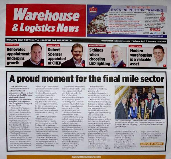 Front page Warehouse and Logistics News