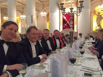 Rt Hon John Hayes CBE at the table with IOC fellows as new Vice President of the Institute