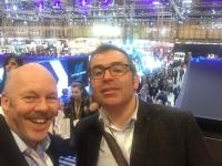 IOC chair Carl Lomas with Phil Martin DfT at the 2019 CV Show at the NEC