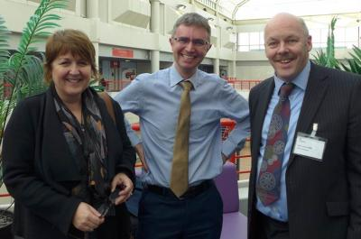 Wendy Davies, HR at  Hermes met DfE deputy director Carl Creswell with IOC chair carl Lomas