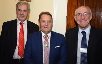 IoC President, Lord Falkland with Transport Minister John Hayes CBE and TfL Leon Daniels talk express sector code of practice